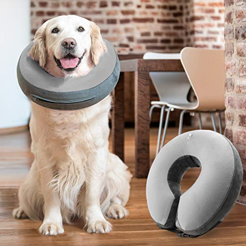 GoodBoy Comfortable Recovery E-Collar for Dogs and Cats – Soft Inflatable Donut Collar Designed for Protecting Small…