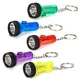 #10: Plastic Large Beam Flashlight Key Chains (1 dz)