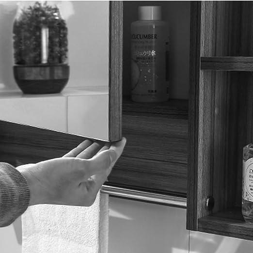 Armarios con espejo Mueble Espejo de baño de Madera Maciza Caja de ...