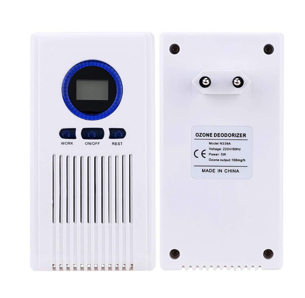 Filtro De Aire, Desodorante para Inodoro Doméstico Desodificador De Aire Hotel Desinfectador De Aire Generador De Ozono 220V 100mg: Amazon.es: Hogar