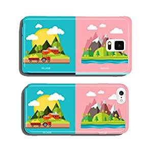 Flat design urban landscape illustration cell phone cover case iPhone6