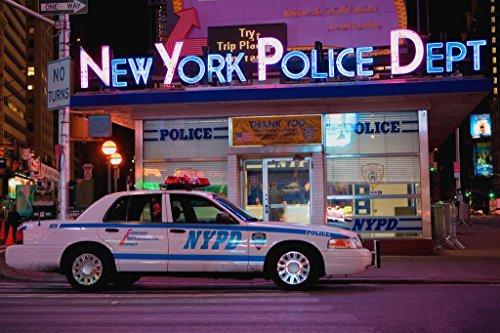 (NYPD Cruiser Manhattan Midtown Times Square Precinct New York City Photo Art Print Poster 36x24 inch)