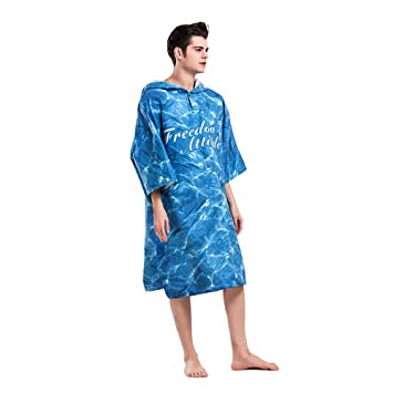 Beach Towel Bathrobes Beach Bathing Towel Portablewarm Clothes With Hood  Sleeve Pocket For Adult Diving Fast Drying Cloak Swimming Hot Springthick  ... dfeb9cc14