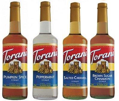 (Torani Best Winter Syrups, Pumpkin Spice, Peppermint, Salted Caramel & Brown Sugar Cinnamon)