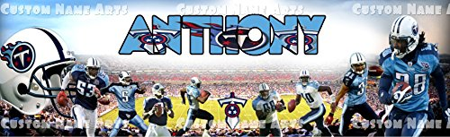Personalized Tennessee Titans Banner Birthday Poster Custom Name Painting Wall Art Decor