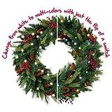 Cordless Pre-lit Cone & Berry Christmas Wreath