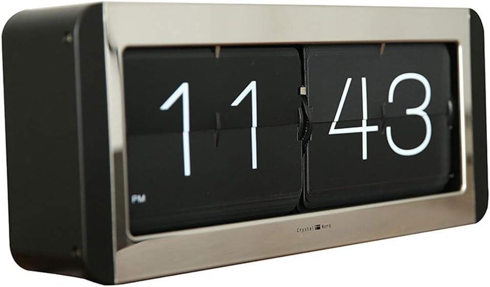 jinrun Relojes de Escritorio Reloj De Escritorio Digital Reloj Moderno Escritorio Reloj Sala De Estar Estudio Trend Clock Luxury Black Despertador