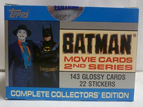1989 Tiffany Topps Batman Trading Cards Set with Stickers 2nd Series Glossy - Tiffany Card Charge