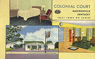 Colonial Court Madisonville, Kentucky Original Vintage Postcard