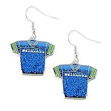 NFL Seattle Seahawks Glitter Jerseys Sparkle Dangle logo Earring Set Charm Gift