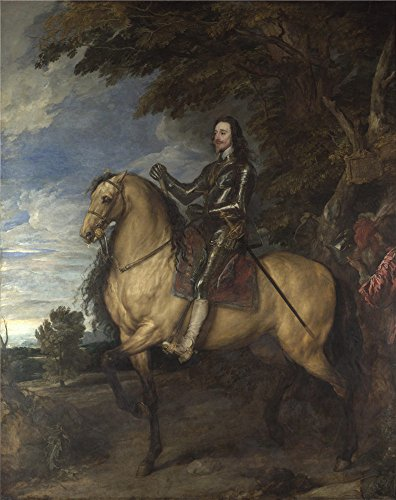 'Anthony Van Dyck Equestrian Portrait Of Charles I ' Oil Painting, 30 X 38 Inch / 76 X 96 Cm ,printed On Polyster Canvas ,this Vivid Art Decorative Prints On Canvas Is Perfectly Suitalbe For Dining Room Decor And Home Decor And Gifts