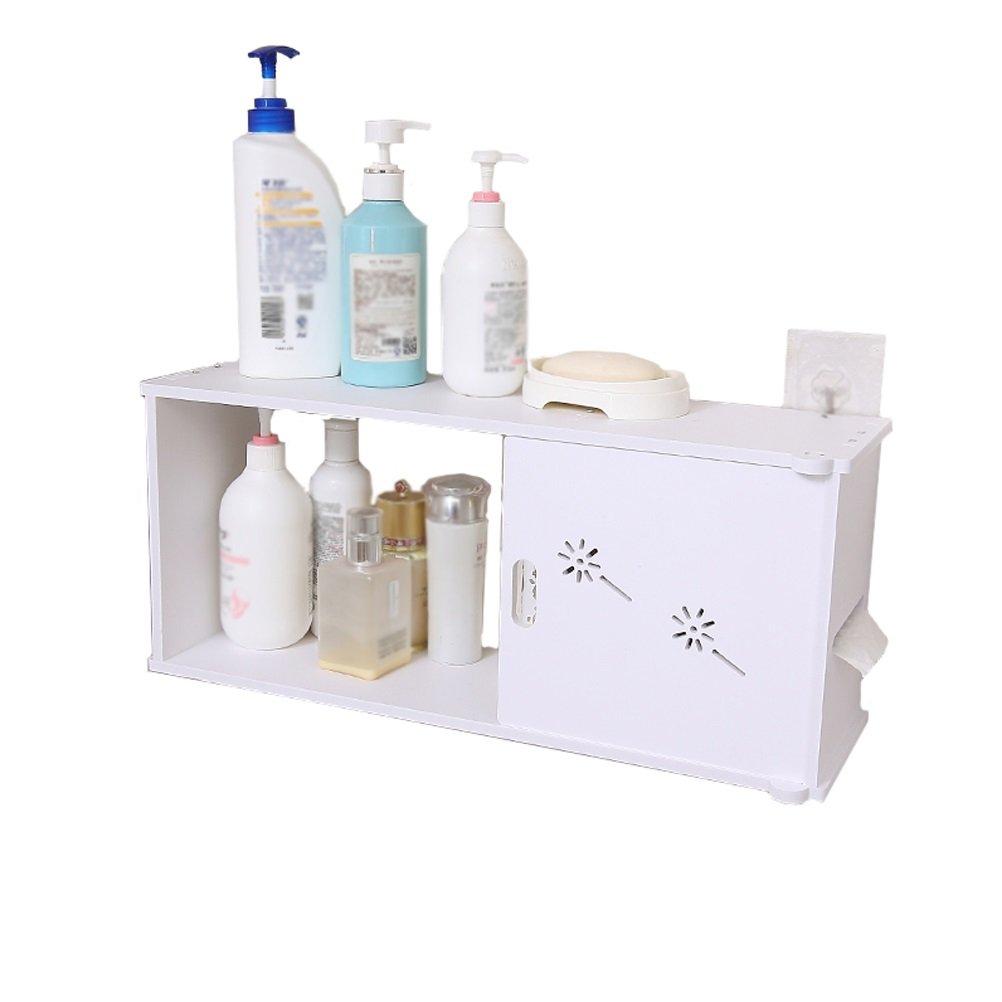 Shelf LUYIASI- Estante de Almacenamiento de baño Lavabo de baño Estante de baño de Aseo (50x20cm) (Color : B)