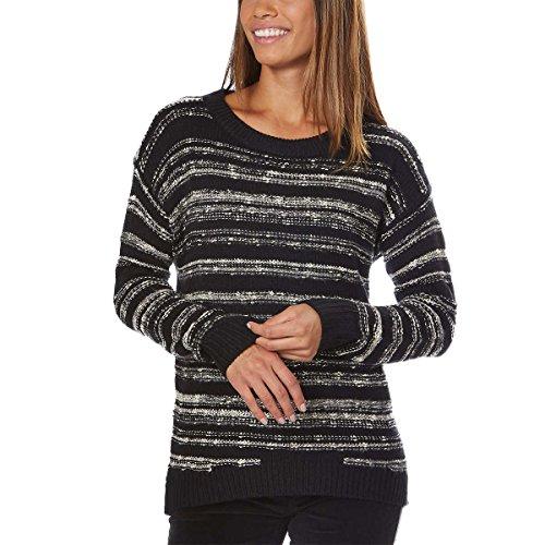 Calvin Klein Jeans Ladies' Marled Sweater (Black, Large) ()