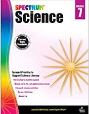 Carson Dellosa – Spectrum Science, Focused Practice to Support Science Literacy for 7th Grade, 176 Pages, Ages 12–13 with Answer Key