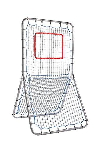 Champion Sports Rebound Pitchback Net: Adjustable Training Practice Rebounder Bounceback Screen for Baseball, Softball, Lacrosse, Soccer, Basketball