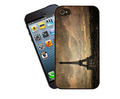 Paris - Eiffel Tower Handy Tasche - dieses Cover passt Apple Modell iPhone 4 / 4 s - von Eclipse-Geschenk-Ideen