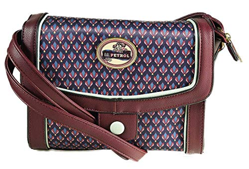 Ephemere Retro Bag Burgundy Lili Petrol Messenger zw45TYYx