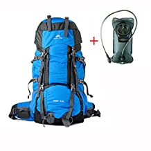 75+10L Backpack for Camping Hiking Traveling with Rain Cover and Water Storage Bladder Zh&Co