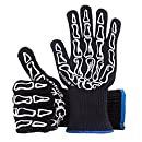 EXAKET Extreme Heat Resistant Gloves - Protection Up to 932oF(500°C) - Special Designed for Oven Grilling BBQ Cooking Camping Baking - 5'' Forearm Protect Pot Holders Grill Gloves, Oven Mitts