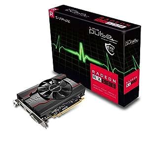 Sapphire Pulso Radeon RX5502GB de Memoria 128bits, GDDR5, DisplayPort/HDMI/DL-DVI-D PCI Express Tarjeta gráfica–Negro