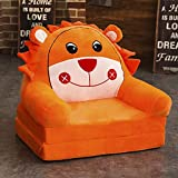 Chair Children's Sofa, Lightweight Foldable Washable Short Plush Fabric Can Sit And Lie Down 3D PP Cotton Padding Suitable For Children's Room/living Room (color : H)