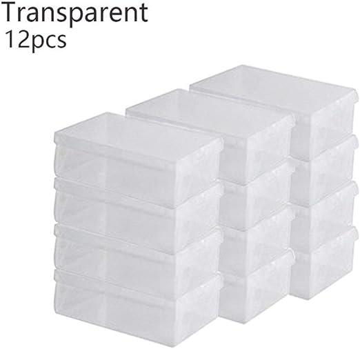 KINLANG Zapatos de plástico Transparente Cajas de Almacenamiento ...