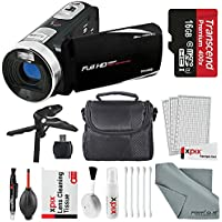 Bell & Howell Fun Flix DV50HD HD Black Video Camera Camcorder Basic Bundle. Tripod + LED Light + Case + Video Stabilizer + Filter Kit + Xpix Deluxe Cleaning Kit + More