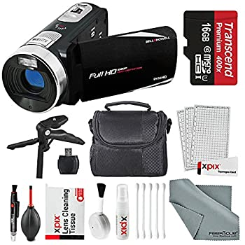Image of Bell & Howell Fun Flix DV50HD HD Black Video Camera Camcorder Basic Bundle. Tripod + LED Light + Case + Video Stabilizer + Filter Kit + Xpix Deluxe Cleaning Kit + More Camcorders