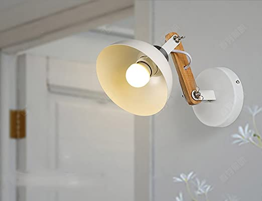 LY Bid Apliques de Pared Estilo Nórdico Moderno Simple Americano Creativo Madera Pasillo Escalera Lámpara Dormitorio Dormitorio Led Lámpara De Pared Lámpara De Pared Apliques Pared: Amazon.es: Hogar