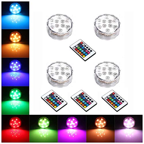 StillCool Floating LED Lights Waterproof Multi Color Lights with Remote and Battery Operated,Festival Flameless Decor Light for Vase,Fish Tank,Garden,Aquarium,Party,Halloween,Christmas Decoration -