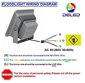 51U9iKOE9PL._SX342_ deled led floodlight 30w white color waterproof outdoor ac85 265v led flood light wiring diagram at gsmportal.co