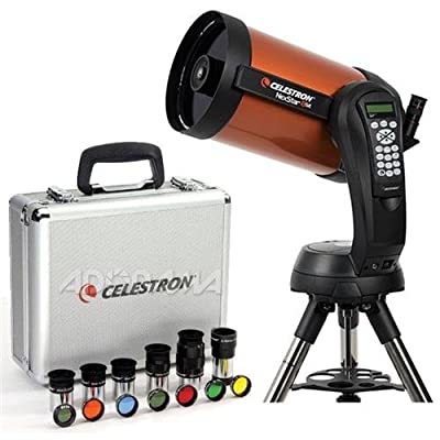 "Celestron NexStar 8 SE Schmidt-Cassegrain Computerized Telescope - with Deluxe Accessory Kit (5 Celestron Plossl Eyepieces, 1.25"" Barlow Lens, 1.25"" Filter Set, Accessory Carry Case"