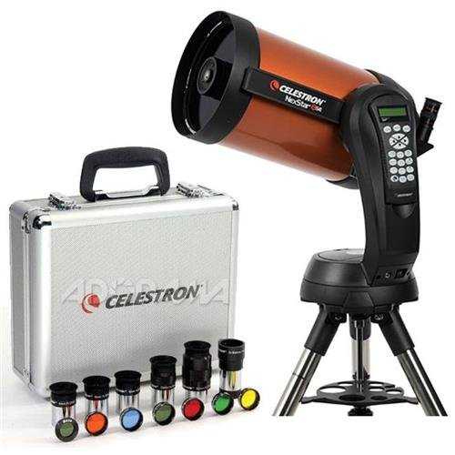 Celestron NexStar 8 SE Schmidt-Cassegrain Computerized Telescope - with Deluxe Accessory Kit (5 Celestron Plossl Eyepieces, 1.25'' Barlow Lens, 1.25'' Filter Set, Accessory Carry Case by Celestron