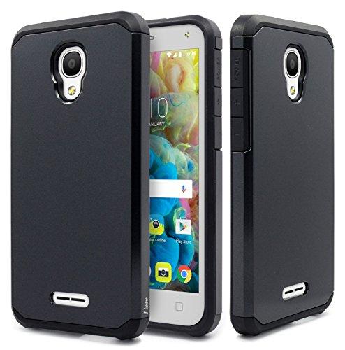 Price comparison product image Alcatel Fierce 4 Case, Alcatel Allura Case, Alcatel Pop 4 Plus Case, NageBee Design Premium [Heavy Duty] Defender [Dual Layer] Protector Hybrid Case (Black Armor)