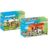 Playmobil Country Playset Bundle with Take Along Horse...