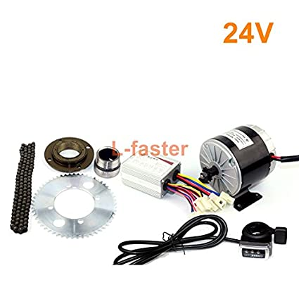 24V36V 350W Motor Kit Electric Gokart Engine System With Gas Pedal