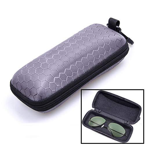 LERTREE Protable Rectangle Zipper Sunglasses Hard Eye Glasses Case Eyewear Protector Box (Gray)