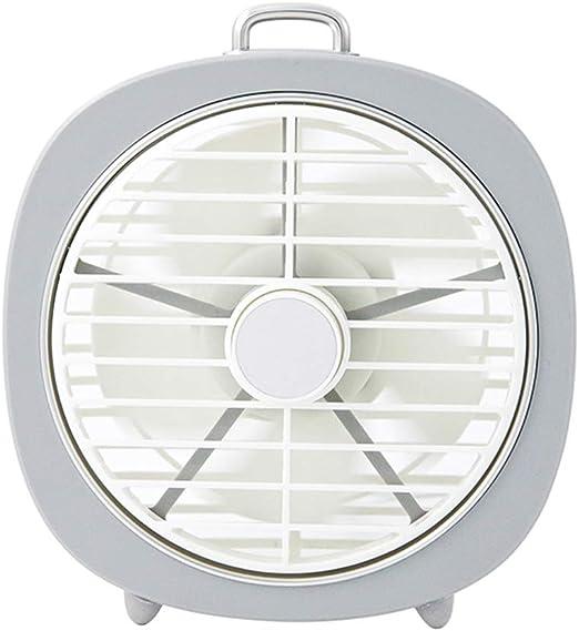 YJZQ Ventilador Retro silencioso Mini Fan con luz Nocturna LED 3 ...
