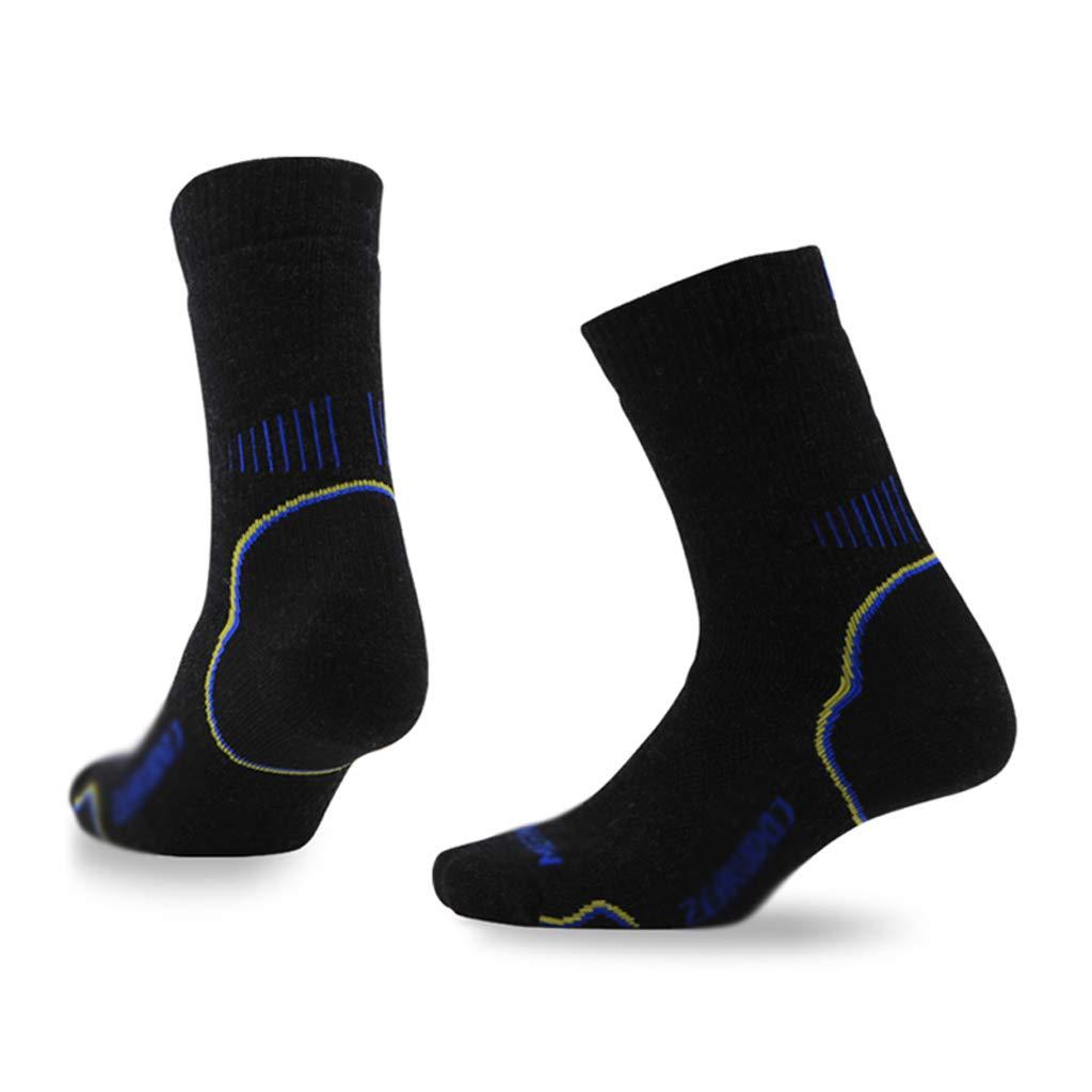 B(5pairs) Medium Chaussettes d'escalade en Laine mérinos pour Hommes en Plein air, Chaussettes à séchage Rapide pour Sportifs et Hommes pour Femmes, à séchage Rapide, Chaussettes de randonnée épaisses