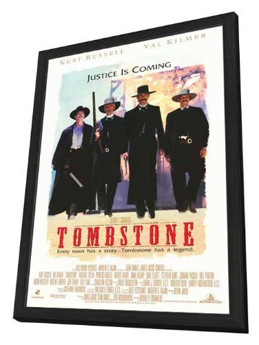 Tombstone - 27 x 40 Framed Movie Poster by Movie Posters