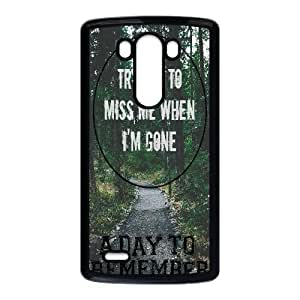 Wlicke A Day to Remember DIY Durable LG g3 Case, Unique Design Protective Phone Case for LG g3 with A Day to Remember