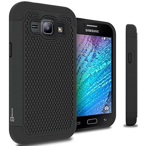 Slim Shockproof Case for Samsung Galaxy J1 (Black) - 4