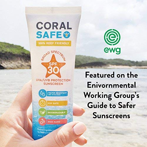 Coral Safe Natural SPF 30 Mineral Sunscreen - Body Skin Care Products for Men and Women - Hand and Facial Sunblock - Kid and Baby Safe - 3.4 fl oz