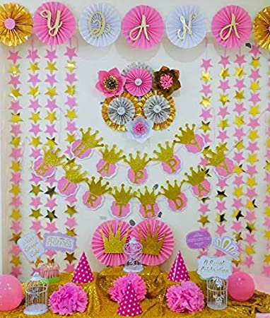 La Pitara Beautiful Decoration Made In India Princess Theme Based Birthday Party At Home Ready To Use Branded Diy Do It Yourself Kit Easy To Use Hand Made Decoration Material 104 Items