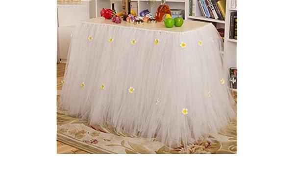 Xuan mesa portadas hechas a mano toallas VASELLAME para boda Partito Baby ducha Decoración Mesa faldas Rosa 80 cm * 91,5 cm, rojo: Amazon.es: Deportes y ...
