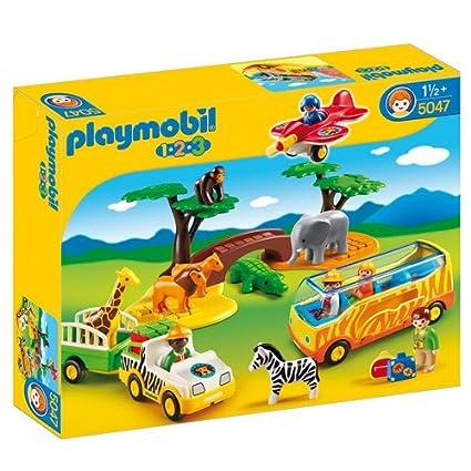 Amazon.com: Playmobil 1.2.3 Gran Safari Africano: Toys & Games