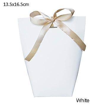 Amazon.com: 20 bolsas de papel Kraft color blanco y negro ...