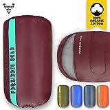 sleeping bag - Forbidden Road Sleeping Bag Single Sleeping Bag (5 Color) (Wind Red, Single)