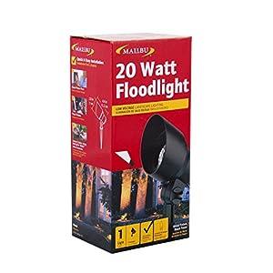 Malibu 20 Watt Floodlight Low Voltage Landscape Lighting Outdoor Spotlight Waterproof Lighting for Driveway, Yard, Lawn, Flood, Garden, Outdoor Lighting