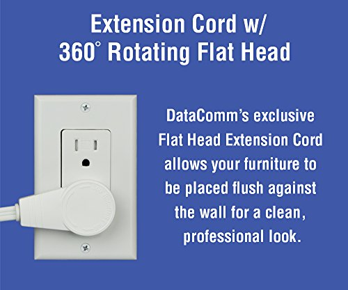 DataComm Electronics 45-0024-WH Recessed Pro-Power Kit with Duplex Receptacle and Straight Blade Inlet Photo #8